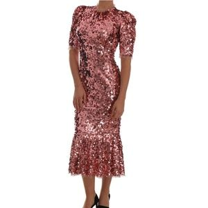 Authentic Dolce & Gabbana Pink Sequin Dress